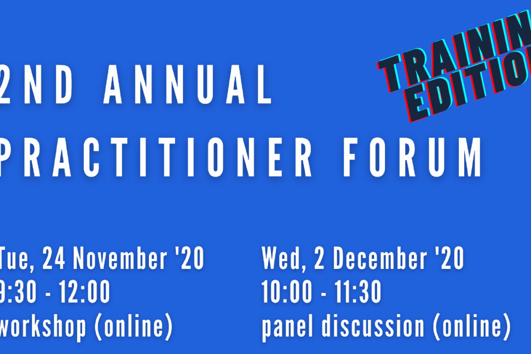 2ND ANNUAL PRACTITIONER FORUM  TRAINING EDITION